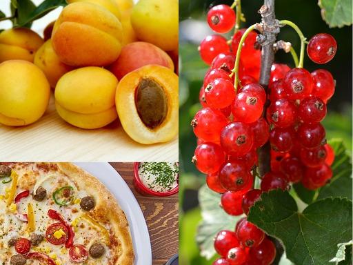 Pizza aux fruits d'été