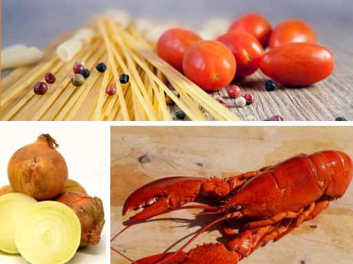 image d'un homard et de pâtes