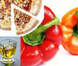 Pizza aux poivrons et à la feta
