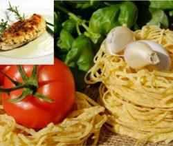 Tagliatelles au poulet avec ses légumes